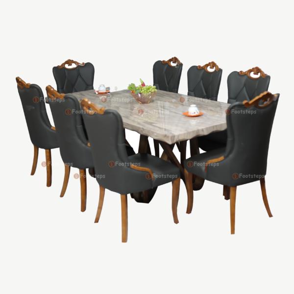 black marbel dining set 4