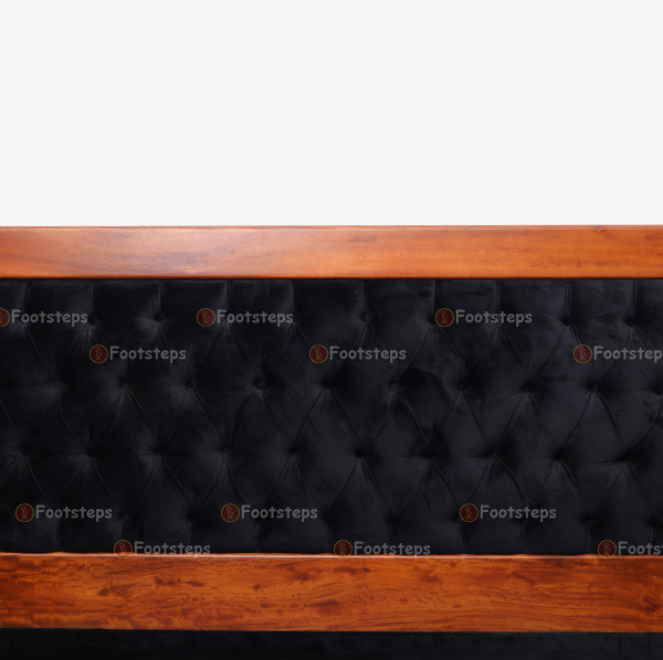 Black Upholstered Bed (4)