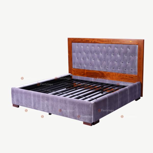 Light Grey Upholstered Bed (1)