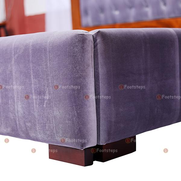 Light Grey Upholstered Bed (2)