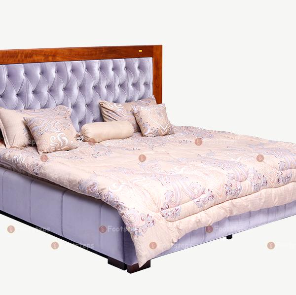 Light Grey Upholstered Bed (4)