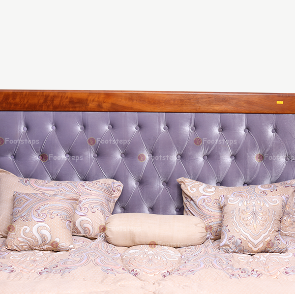 Light Grey Upholstered Bed (6)