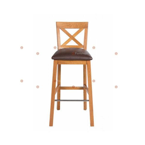 Java-Cross-Tall-Oak-Kitchen-Bar-Stool—Brown-Leather-Pad-2