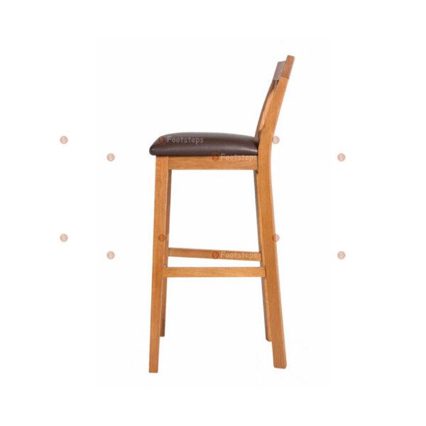 Java-Cross-Tall-Oak-Kitchen-Bar-Stool—Brown-Leather-Pad-3
