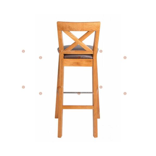 Java-Cross-Tall-Oak-Kitchen-Bar-Stool—Brown-Leather-Pad-4